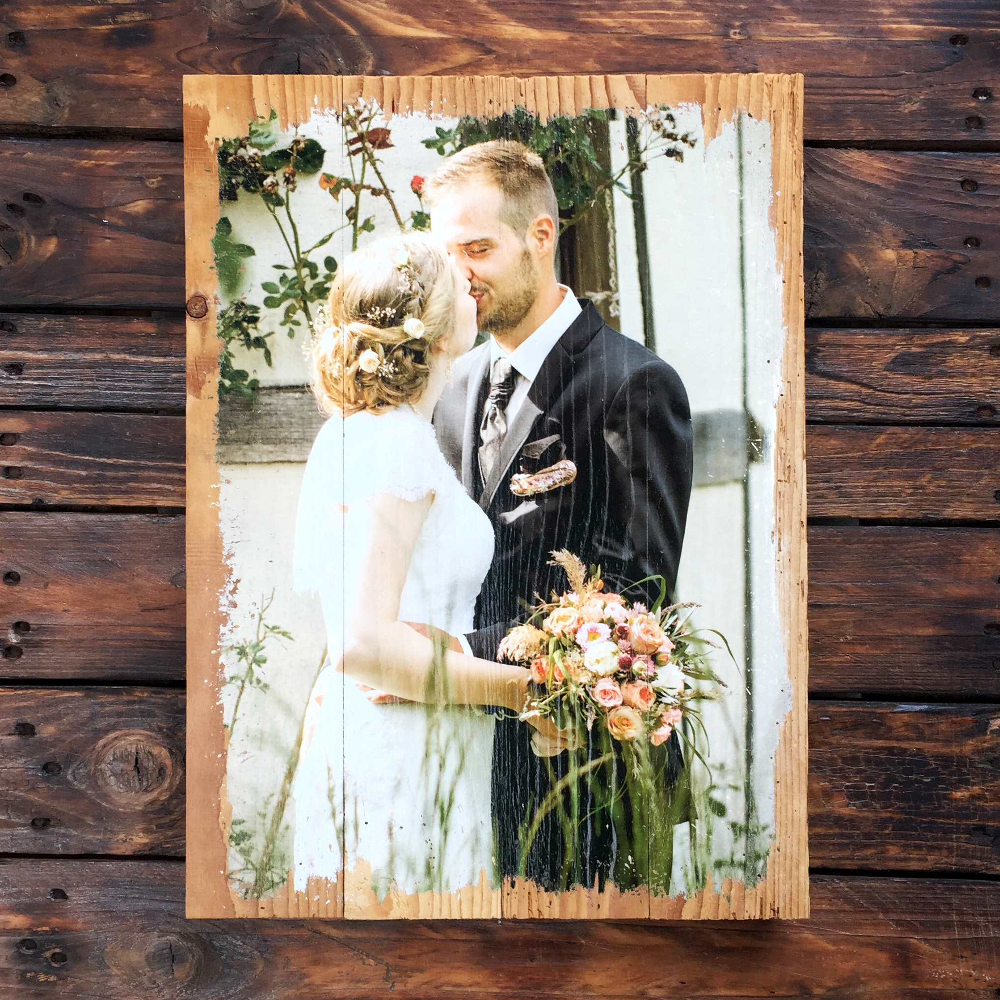 lumberprint foto auf holz bild auf holz holzdruck fotodruck altholz fotogeschenk hochzeit. Black Bedroom Furniture Sets. Home Design Ideas