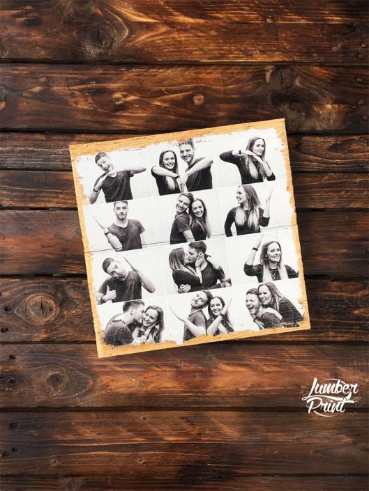 LumberPrint Foto auf Holz Fotodruck Altholz Geschenkidee