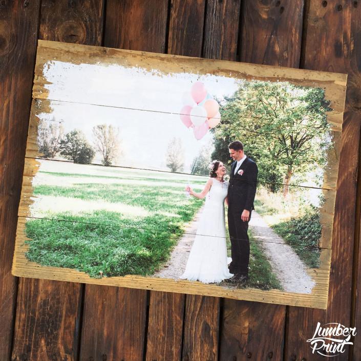 Foto auf Holz Fotodruck Holzdruck auf Altholz - Fotogeschenk