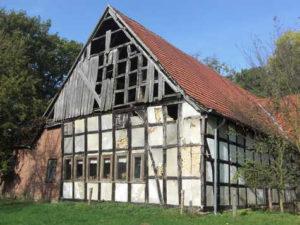 LumberPrint Fotodruck Foto-auf-Holz Holzdruck Lübbeke Haupthaus