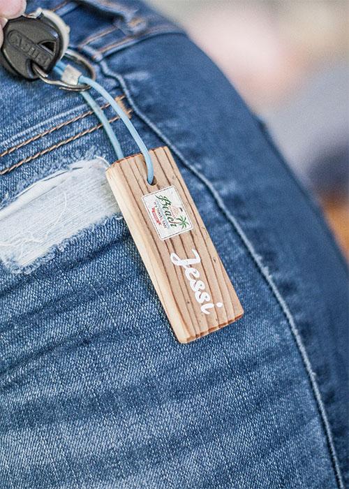 LumberPrint Schlüsselanhänger - Foto auf Holz - Holzdruck
