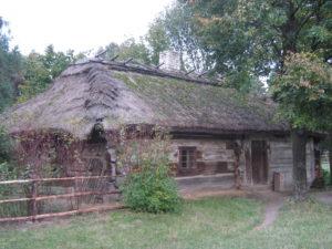 Wohnhäusern aus der Gegend um Białowieża